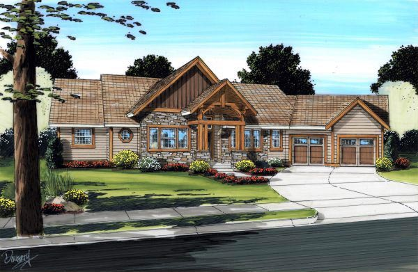 House Plan 99992 Elevation