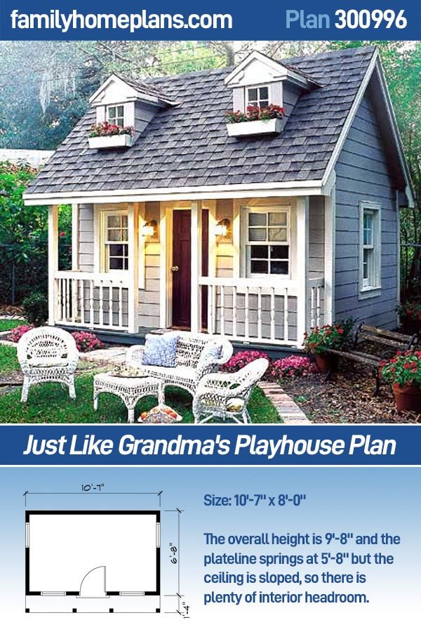 Free home plans children playhouse plans for Free playhouse blueprints