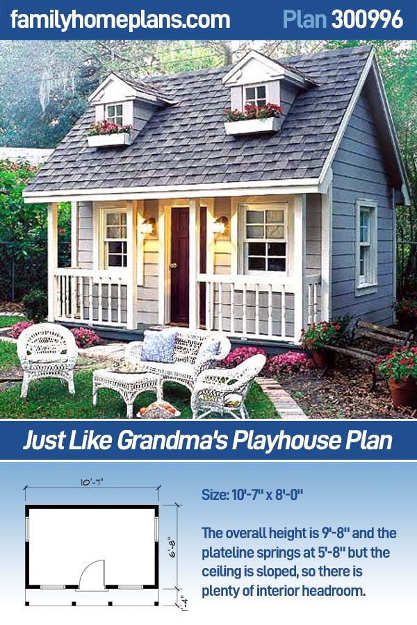 Interior Design Home Photo Gallery on Just Like Grandma S Playhouse   Project Plan 300996