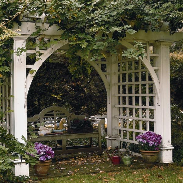 project plan 501908 garden arbor privacy trellis