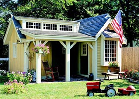 Pretty Porch Shed  - Project Plan 501940