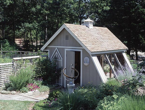Plan 503499 Greenhouse Style Garden Shed