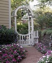 Garden Gateway Arched Arbor