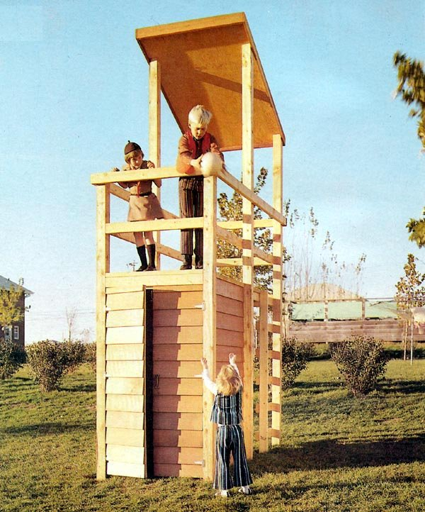 Timberline woodworking utah lookout tower playhouse plans for Lookout tower plans