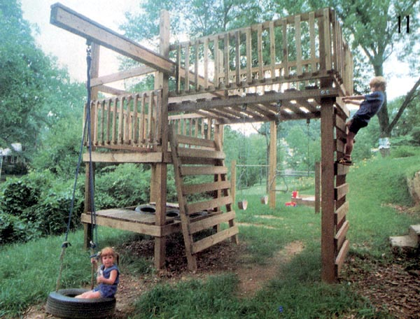 Home ideas treeless treehouse plans for Free treehouse plans and designs