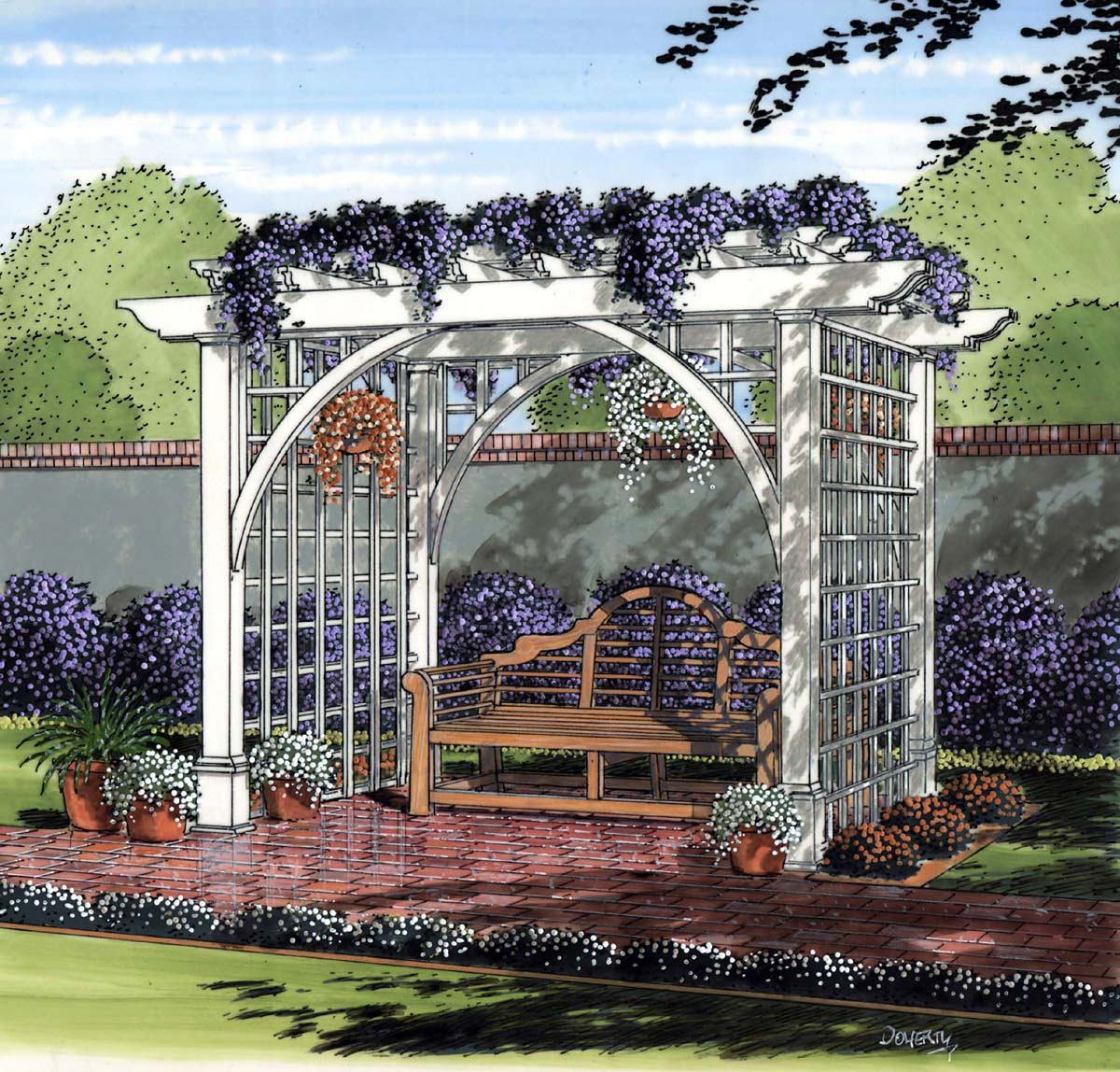 Project plan 504889 garden arbor for Diy garden arbor designs