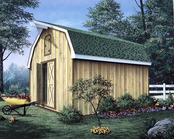 Barn Storage Shed With Loft   Project Plan 85901