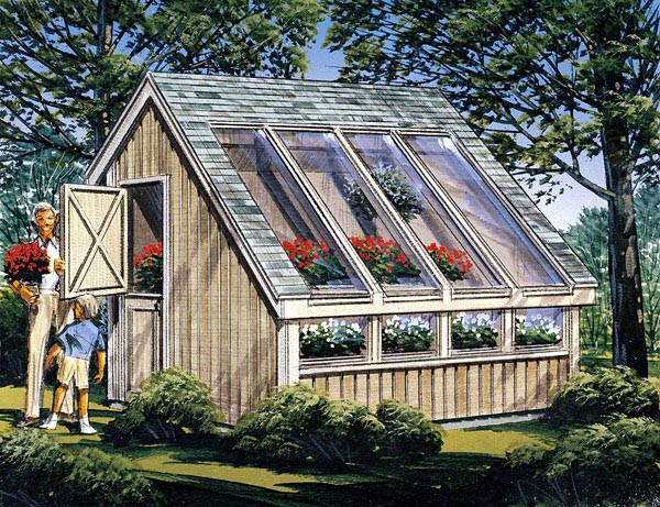 Project plan 85907 garden shed for Garden greenhouse design