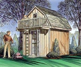 Storage Shed With Playhouse Loft   Project Plan 85915