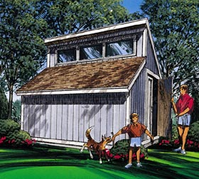 Contemporary Shed Plan - Project Plan 85916