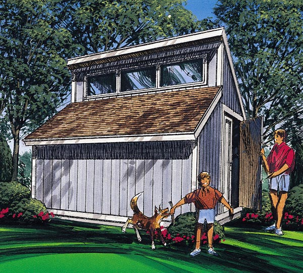 Project plan 85916 contemporary shed plan for Clerestory shed plans