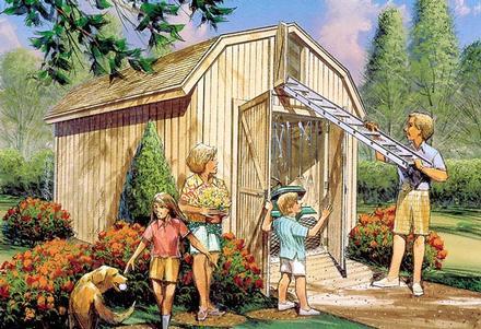 85921 - Yard Barn with Loft Storage