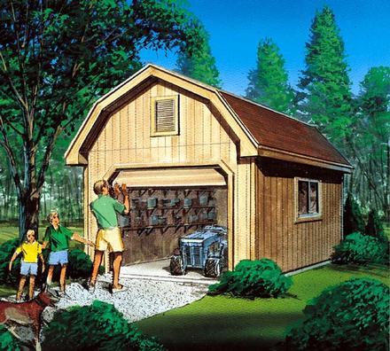 85922 - Barn Storage Shed with Overhead Door
