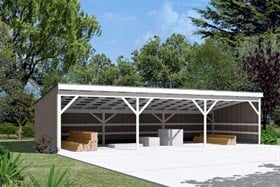 Pole Building - Open Shed