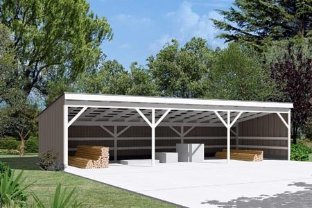 Pole Building - Open Shed  - Project Plan 85946