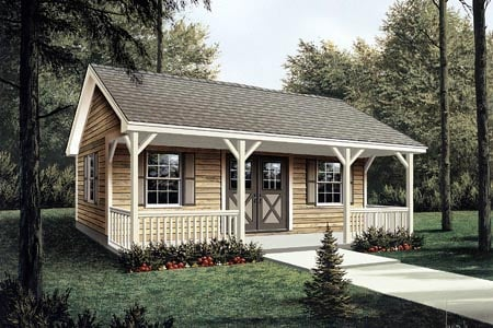 Project Plan 85951 - Workroom with Covered Porch