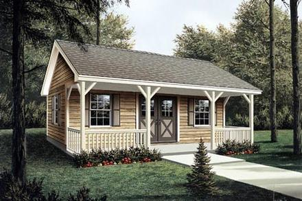 85951 - Workroom with Covered Porch