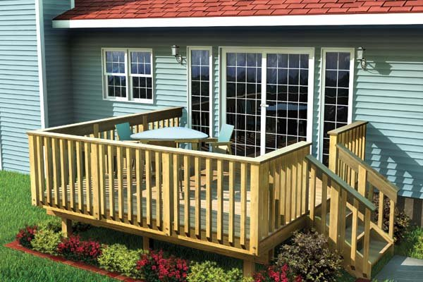 Project plan 90002 easy raised deck for 10 x 8 deck plans