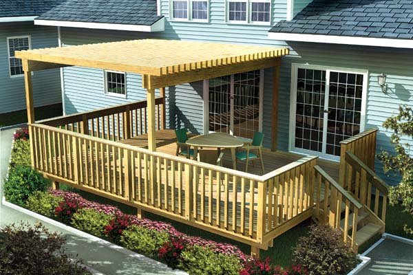 Project Plan 90003 Large Easy Raised Deck W Trellis