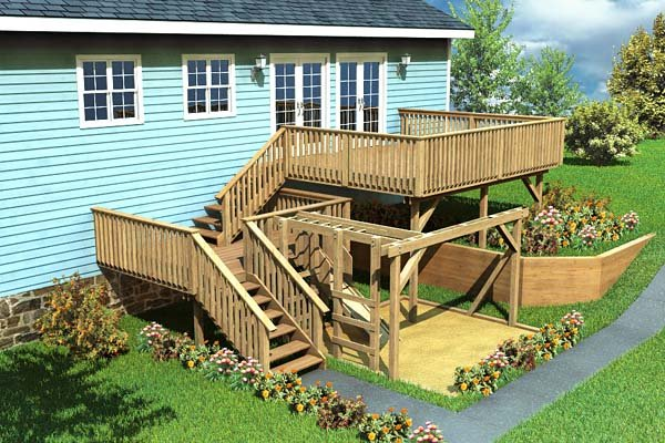 Project Plan 90007 Split Level Deck Play Area