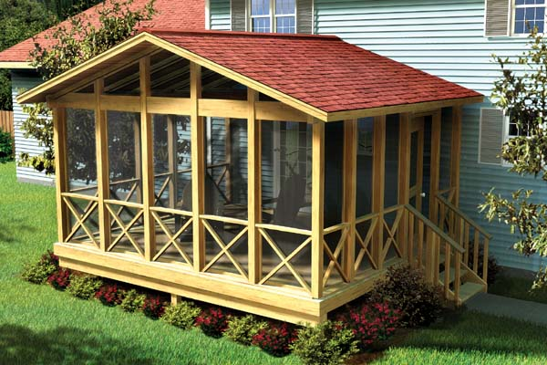screen porch kits project plan 90008 covered screen porch 28718