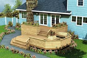 Luxury Split Level Deck - Project Plan 90010