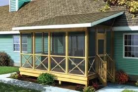 Project Plan 90012 Screened Porch W Shed Roof