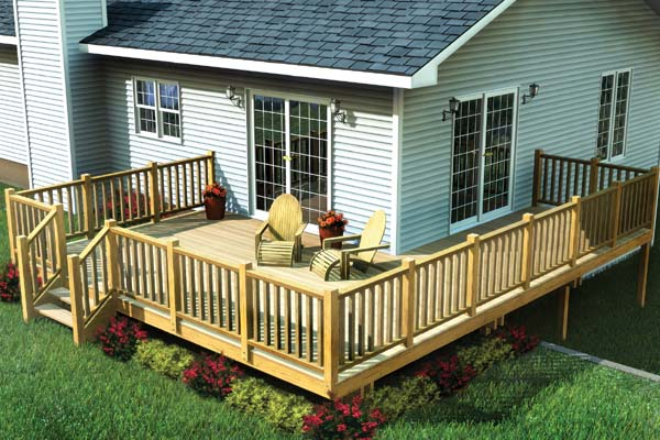Easy Corner Deck Plan 90014