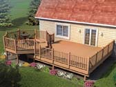 Picnic Deck with Raised Dining Area