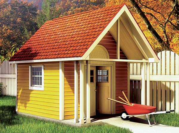 Project plan 90020 fancy storage shed for Playhouse with garage plans