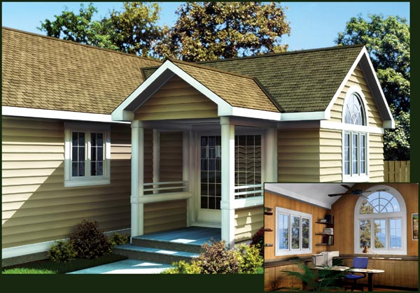 14 X14 Office Addition For One And Two Story Homes Plan