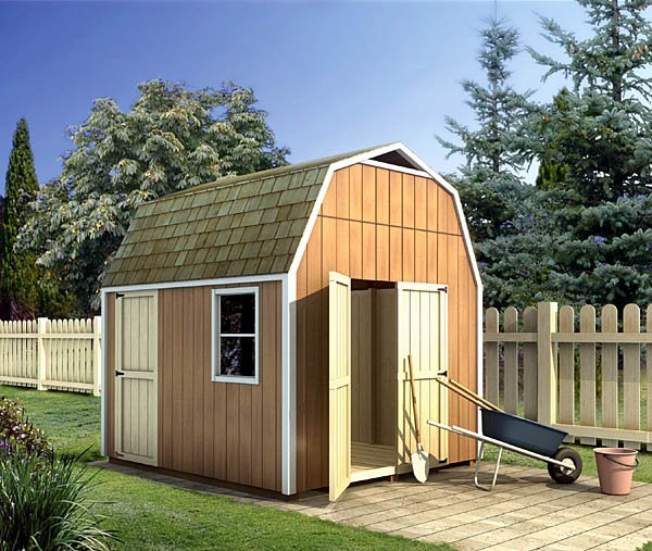 Gambrel Shed – Yard and Garden Shed Plan 90028