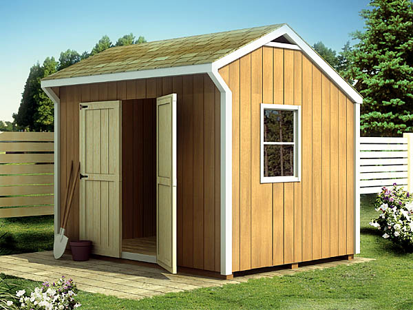 Project plan 90030 salt box shed for Saltbox barn