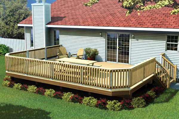 Fancy Backyard Decks : Project Plan 90032  Fancy Raised Deck