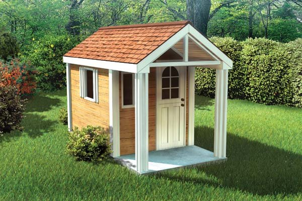 Project plan 90033 4 39 x8 39 childrens playhouse for House projects plans