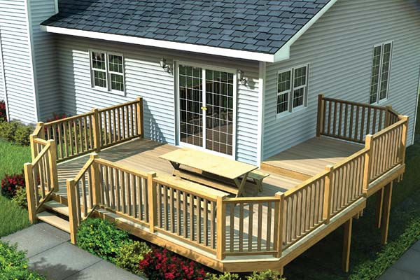 Project Plan 90041 Multi Level Deck W Angle Corners