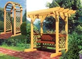 Swing and Arched Arbor