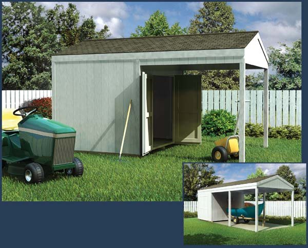 Project plan 90044 car port shed Carport with storage room