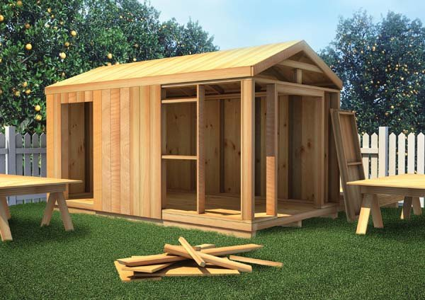 Project Plan 90051 The How To Build Shed. S 484a 15 Stock 10 X ...