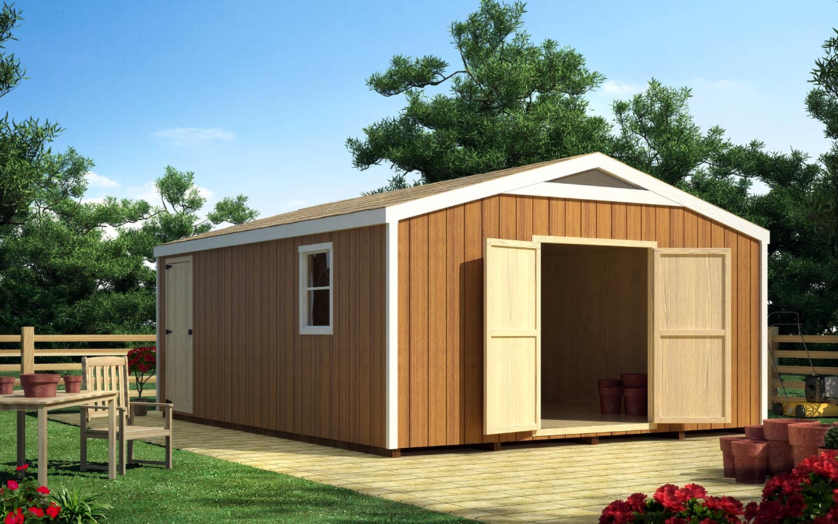 Project Plan 90056 16 X 16 Gable Shed