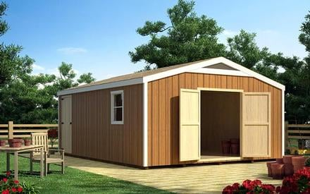 90056 - 16 x 16 Gable Shed